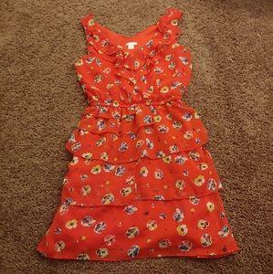 Xhiliration red floral mini dress